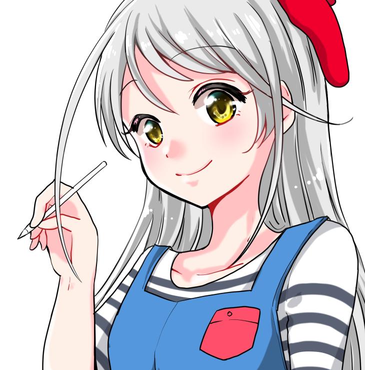 アニメ風タッチの女の子イラスト