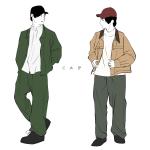男性ファッションイラスト